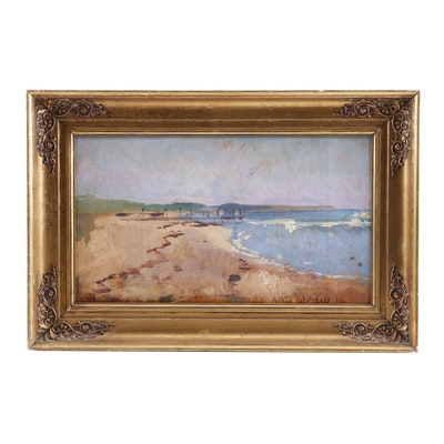 """Niels Peter Bolt Oil Painting """"Danish Landscape"""""""