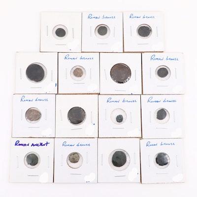 Fifteen Ancient Roman Imperial Bronze AE Coins, ca. 250-400 A.D.