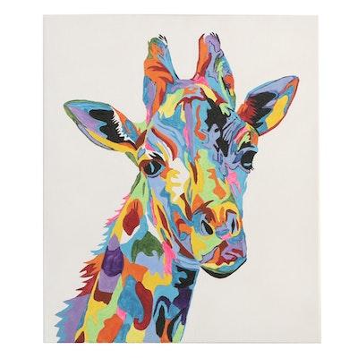 DeSanto Giraffe Acrylic Painting