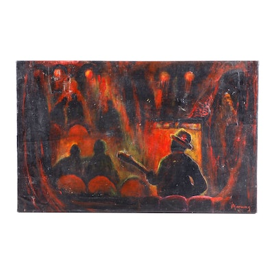 William Manning Oil Painting of a Concert