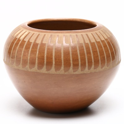 Slip-Glazed Southwestern Style Earthenware Vessel, Mid-20th Century
