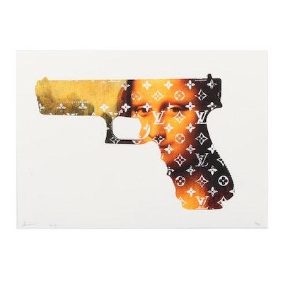 "Death NYC Graphic Print ""Mona Gun"""