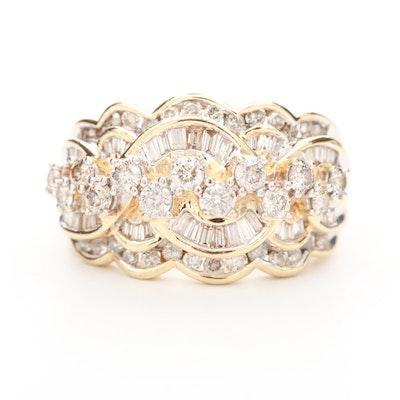 10K Yellow Gold 1.41 CTW Diamond Ring