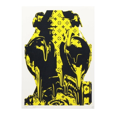 "Death NYC Graphic Print ""L Mask Closeup Yellow"""
