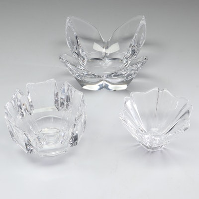 "Orrefors  Themed Crystal Bowls Including ""Corona,"" Set of Three"