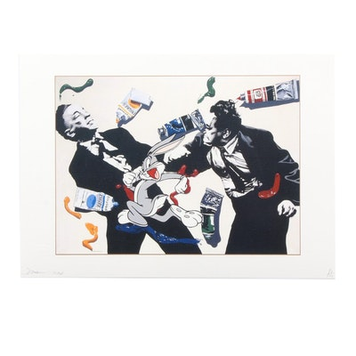 """Death NYC Graphic Print """"Bunny Paint Fight"""""""