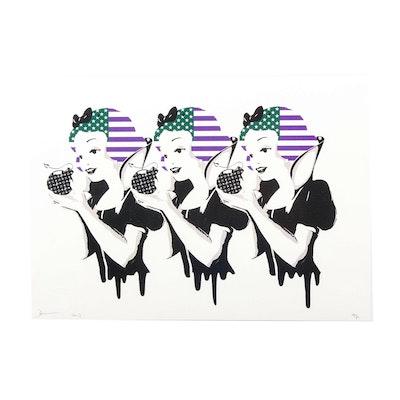 "Death NYC Graphic Print ""3 Snow Melt People"""
