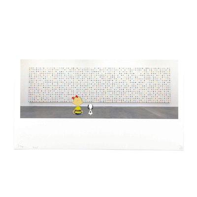 "Death NYC Graphic Print ""Snoop Hirst Dot"""