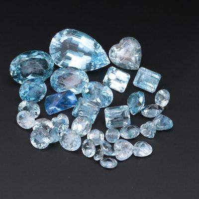 Loose 273.06 CTW of Blue Topaz Gemstones