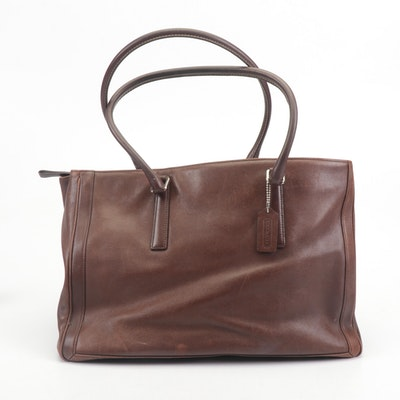 Coach Brown Leather XI Business Tote Shoulder Bag