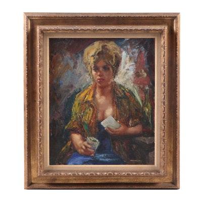 Amadeo Freixas Vivo Portrait Oil Painting