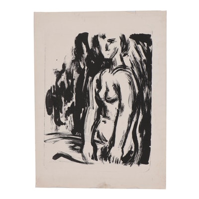 Arthur Helwig Abstract Figural Lithograph