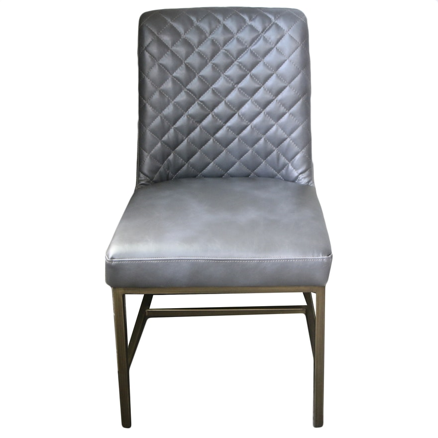 Contemporary Faux Leather Upholstered Side Chair