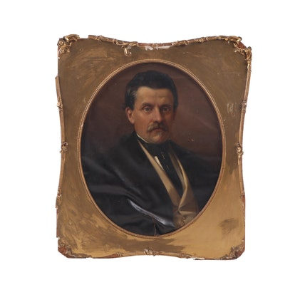 Late 19th Century Oil Painting of Gentleman