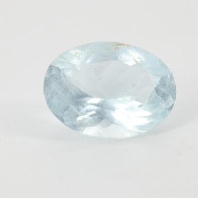 Loose 1.84 CT Aquamarine Gemstone