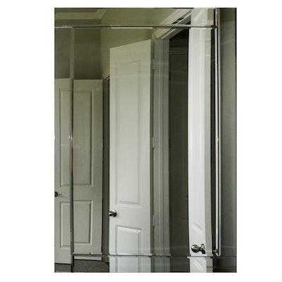 Rectangular Frameless Beveled Glass Mirror, Contemporary