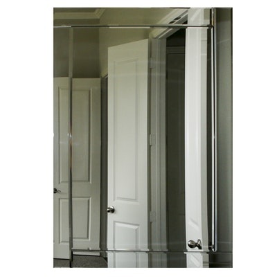 Frameless Beveled Glass Mirror, Contemporary