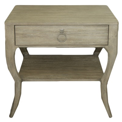 Contemporary Engineered Wood Side Table