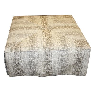 Oversized Beige Fabric Ottoman, 21st Century