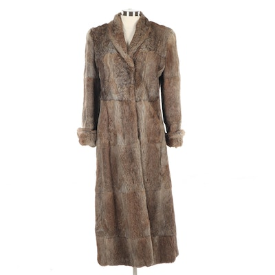 Giorgio Armani Full-Length Rabbit Fur Coat