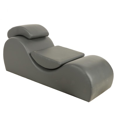 Contemporary Leather Upholstered Chaise