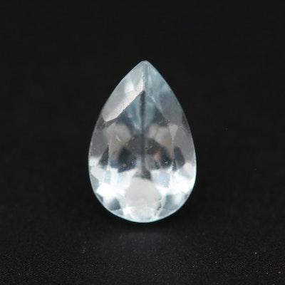 Loose 1.10 CT Aquamarine Gemstone