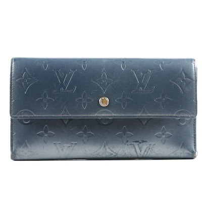 Louis Vuitton Porte Tresor International Wallet in Indigo Mat Monogram Leather