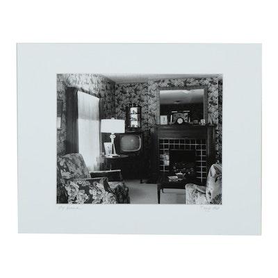 "Kojo Kamau Silver Gelatin Photograph ""My House"", 1960"