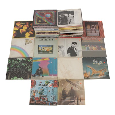 Vinyl Records Featuring Pretenders, Cat Stevens, Hall & Oates and More