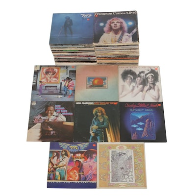 Vinyl Records Featuring Peter Frampton, Toto, Aretha, Pointer Sisters and More
