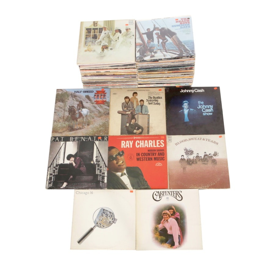 Vinyl Records Featuring Johnny Cash, The Beatles, Cher, Ray Charles and More