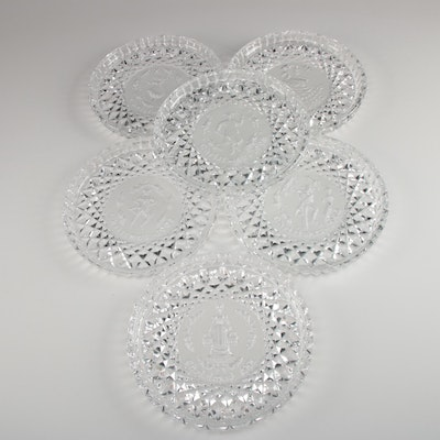 """Waterford Crystal """"Twelve Days of Christmas"""" Collectors Plates, 1990–1995"""