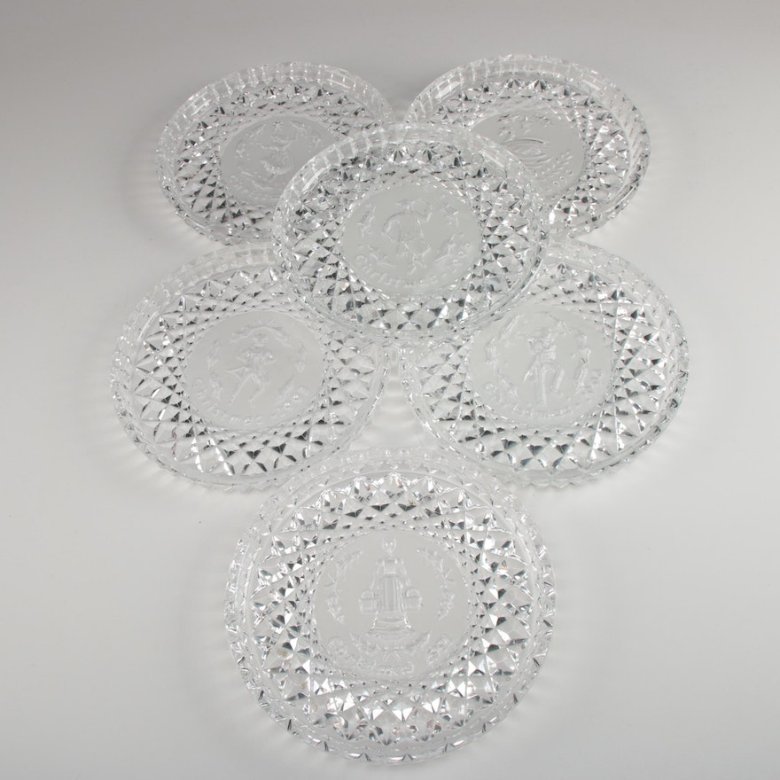 "Waterford Crystal ""Twelve Days of Christmas"" Collectors Plates, 1990–1995"