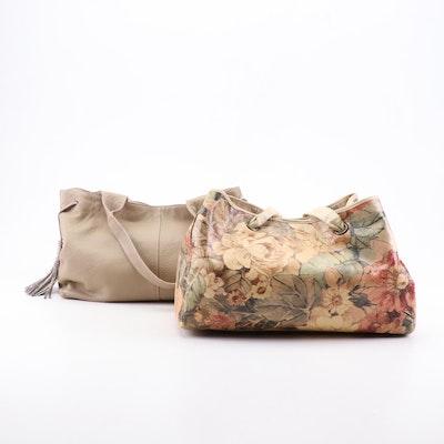 Maurizio Taiuti and G.I.L.I Leather Shoulder Bags