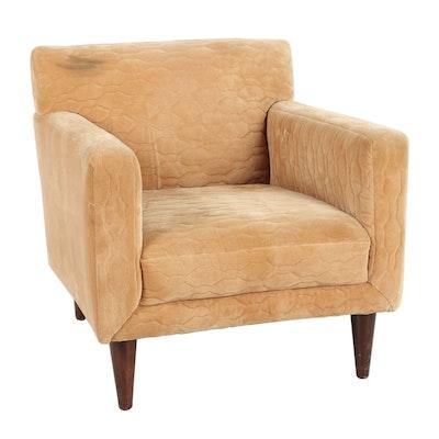 Mid Century Modern Suede Armchair