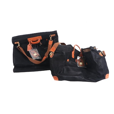 Bric's Shagreen Embossed Leather Garment and Duffle Bags, Made in Italy