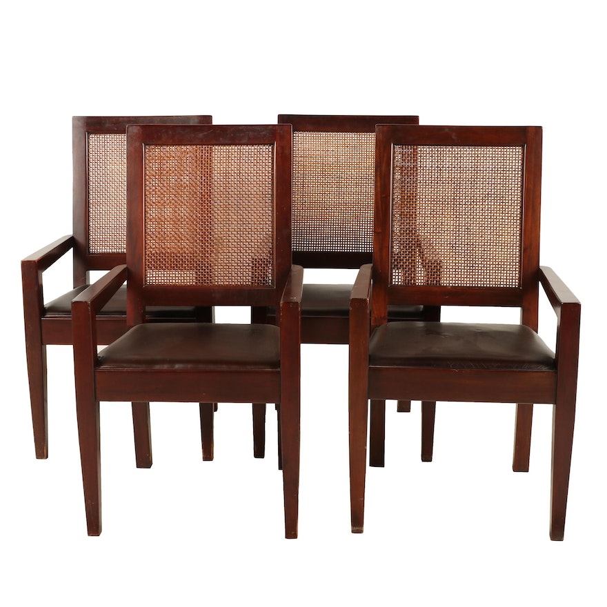 Awesome Contemporary Faux Leather And Cane Back Dining Chairs Andrewgaddart Wooden Chair Designs For Living Room Andrewgaddartcom