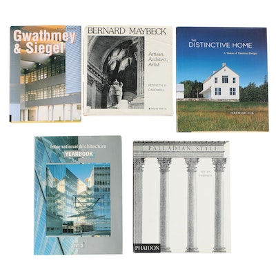 "Architecture Books Including ""Palladian Style"" and ""Bernard Maybeck"""
