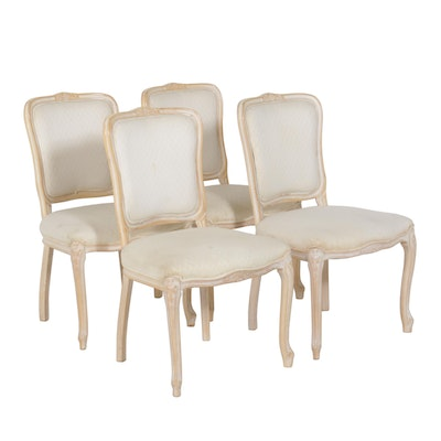 French Provincial-Style Dining Chairs, Set of Four