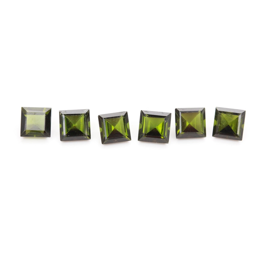 Loose 2.21 CTW Green Tourmaline Gemstones