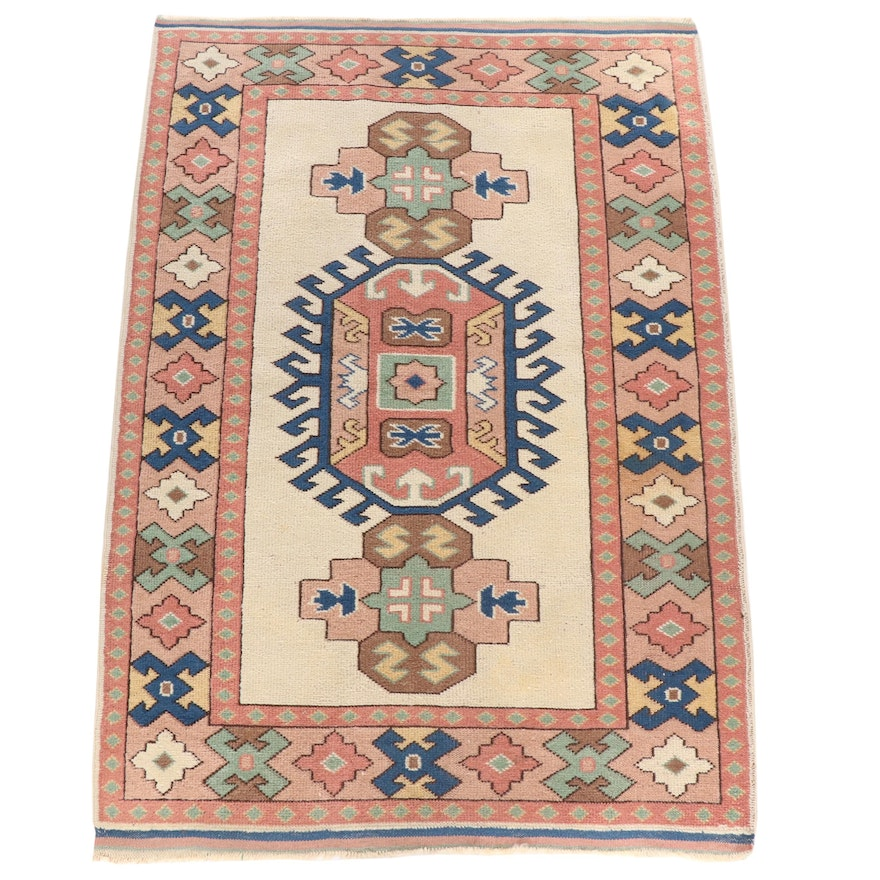Hand-Knotted Turkish Kazak Wool Rug