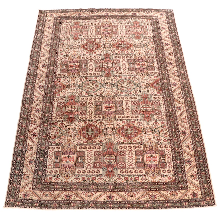 Hand-Knotted Turkish Kayseri Wool Room Sized Rug