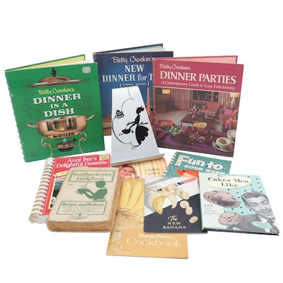 Vintage Cookbooks and Cookbook Easel