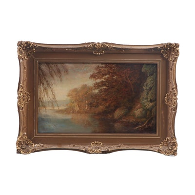 C. Muller Landscape Oil Painting