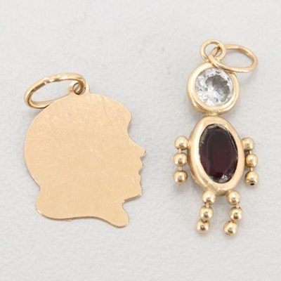 Pair of 14K Yellow Gold Charms