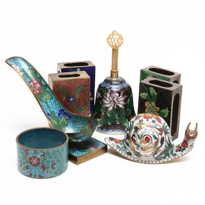 Chinese Cloisonné Decor, Mid 20th Century