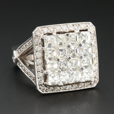 House of Baguettes 18K White Gold 3.82 CTW Diamond Ring