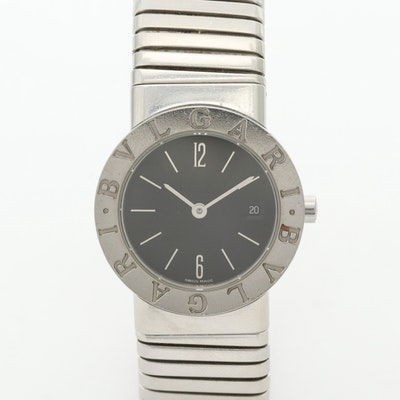 Bulgari Tubogas Stainless Steel Quartz Wristwatch