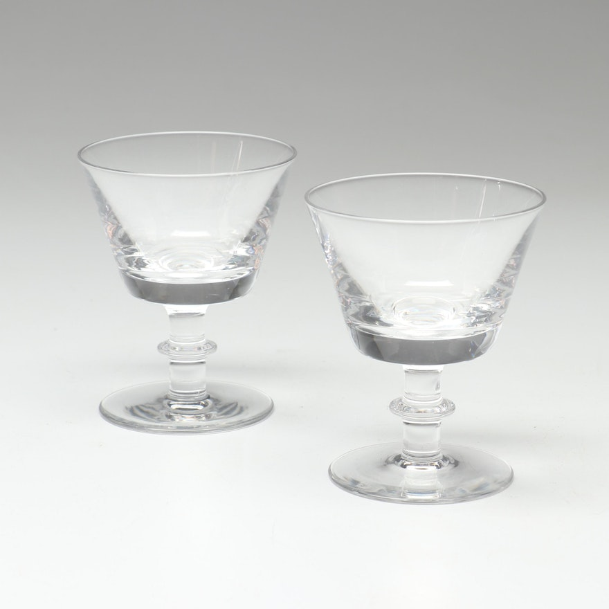 Pair of Steuben Crystal Clarets