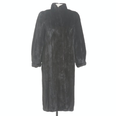Mink Fur Coat with Tapered Cuffs